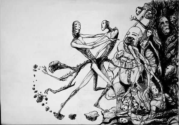 Andre Lima - Arvore da Vida - acrilica sobre tela - 50x70